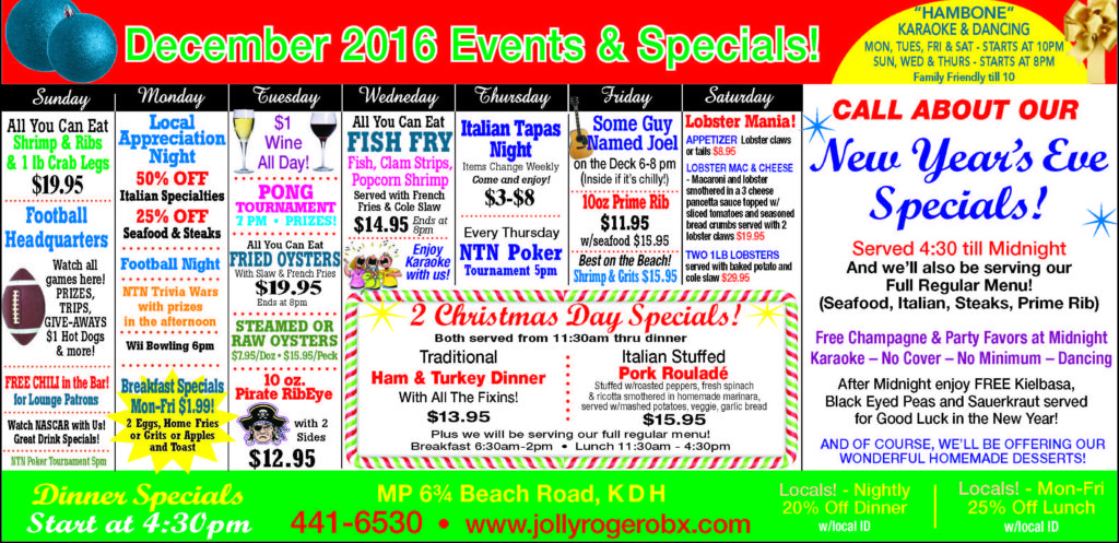 outer banks events December 2016