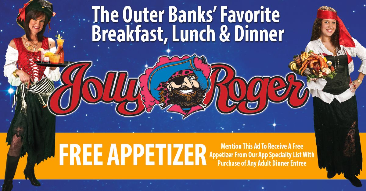 free appetizer offer outer banks