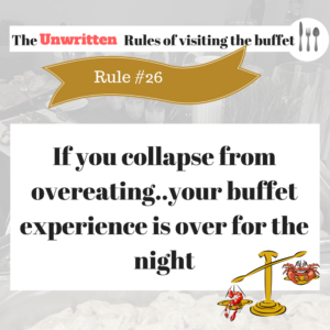 The Rule of visiting the buffet (1)