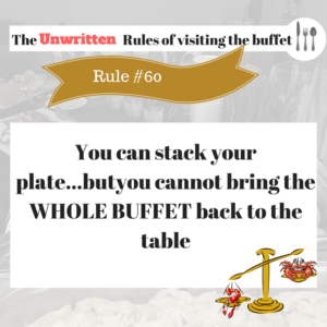 The Rule of visiting the buffet (4)